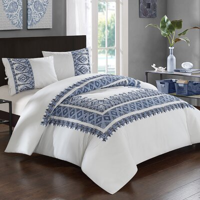 Sarita Garden 3 Piece Comforter Set Size: Full/Queen