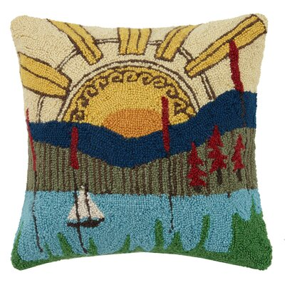 Wonderful World Wool Throw Pillow