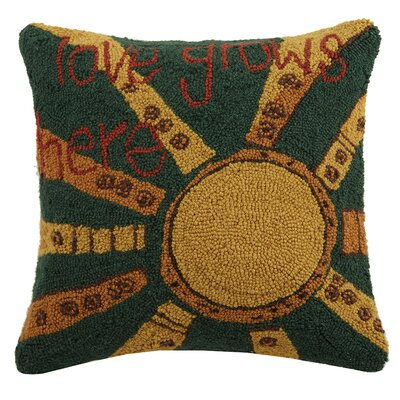 Love Grows Here Wool Throw Pillow