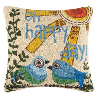 Oh Happy Day Wool Throw Pollow