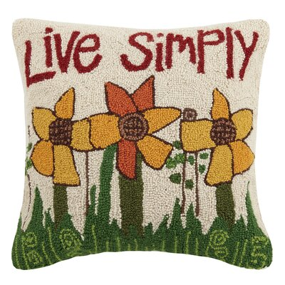 Live Simply Wool Throw Pillow