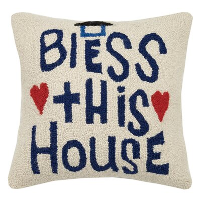 Bless This House Wool Throw Pillow
