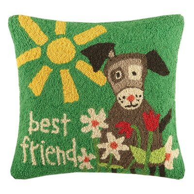 Best Friend Dog Wool Throw Pillow
