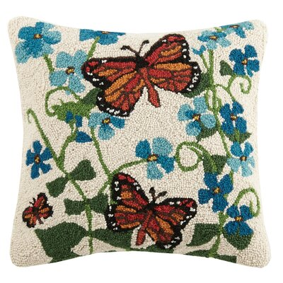 Butterflies Wool Throw Pillow