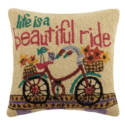Beautiful Ride Wool Throw Pillow