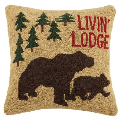 Livin Lodge Wool Throw Pillow