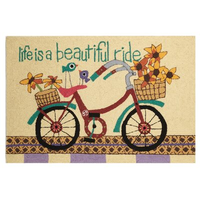 Beautiful Ride Hand-Woven Brown Area Rug
