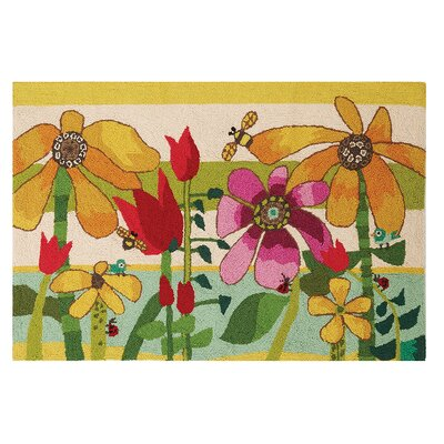 Sunflowers Hand-Woven Yellow/Green Area Rug