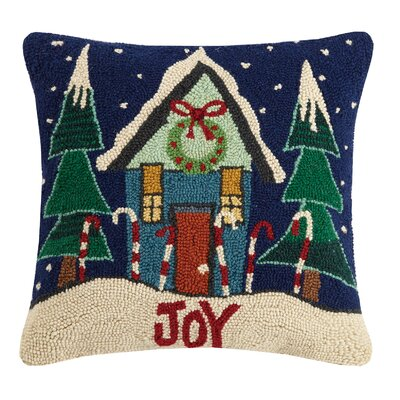 Joy Hook Wool Throw Pillow