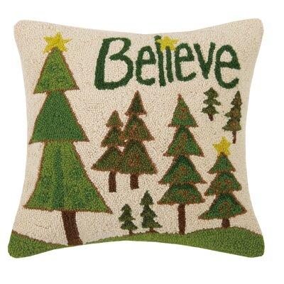 Believe Hook Wool Throw Pillow