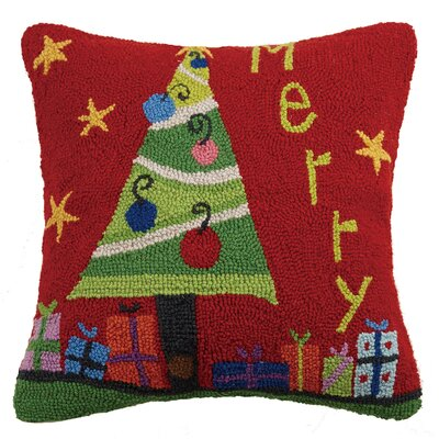 Merry Hook Wool Throw Pillow