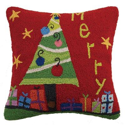 Merry Hook Wool Throw Pillow