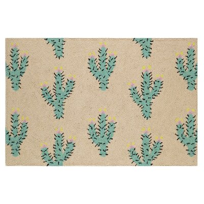 Cacti Hook Hand-Woven Tan/Green Area Rug