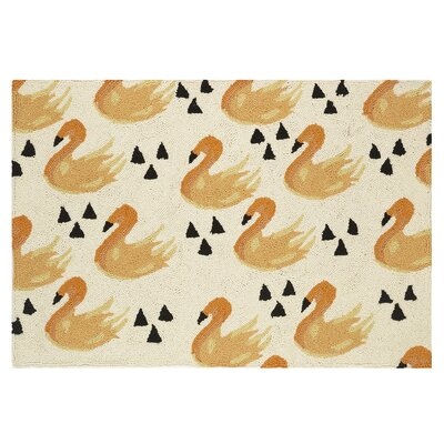 Swan Hook Hand-Woven Beige/Yellow Area Rug