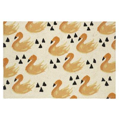 Swan Hook Hand-woven Beige/yellow Area Rug