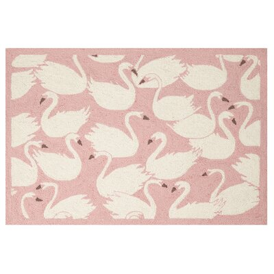 Swan Hook Hand-Woven Ivory/Pink Area Rug
