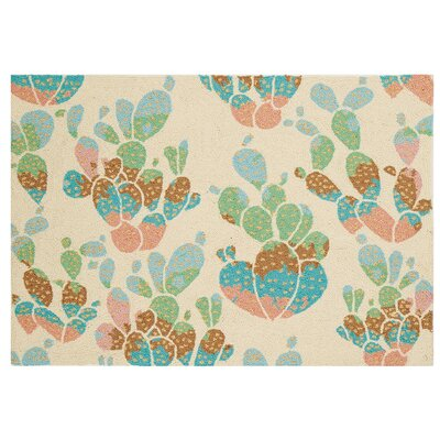 Cactus Hook Hand-Woven Ivory/Green Area Rug