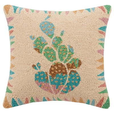 Cactus Hook Wool Throw Pillow
