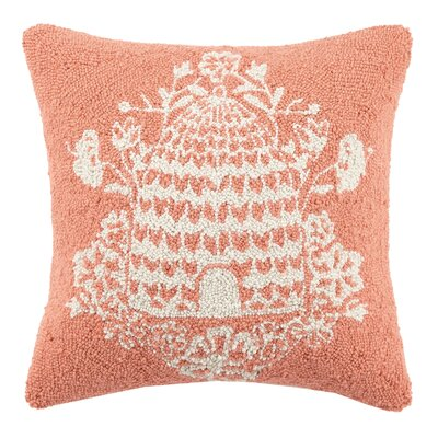 Beehive Hook Wool Throw Pillow