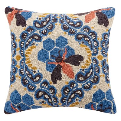 Honey House Hook Wool Throw Pillow