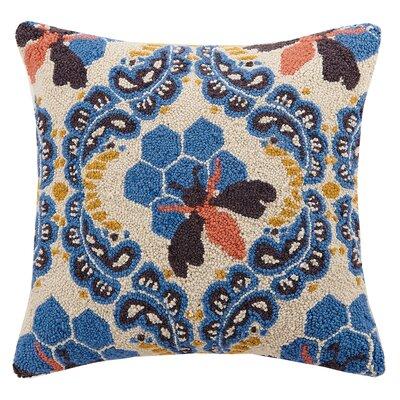 Honey House Hook Wool Throw Pillow