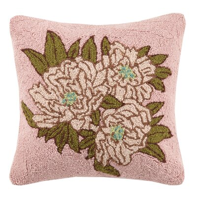 Welcome Posy Hook Wool Throw Pillow