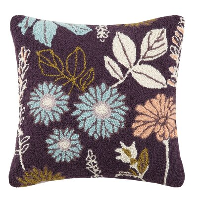 Rooted Hook Wool Throw Pillow