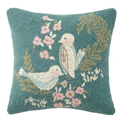 Flourish Hook Wool Throw Pillow