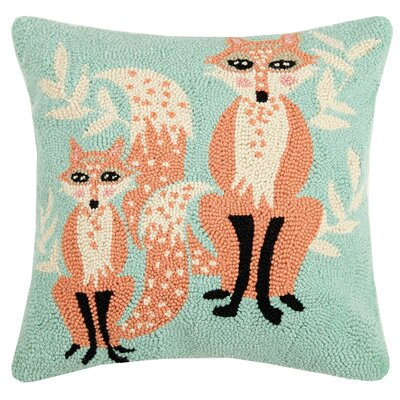 Beegle Fox Wool Throw Pillow