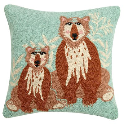 Beecher Bear Wool Throw Pillow
