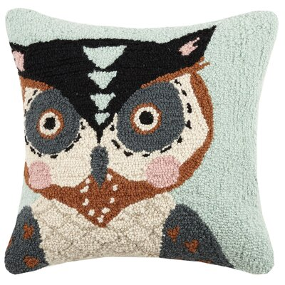 Rumsey Owl Wool Throw Pillow