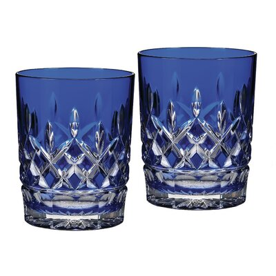 Lismore Cobalt Double Old Fashioned Glass 024258500006