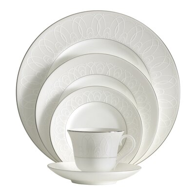 Ballet Icing Pearl Bone China 5 Piece Place Setting, Service for 1 024258464407