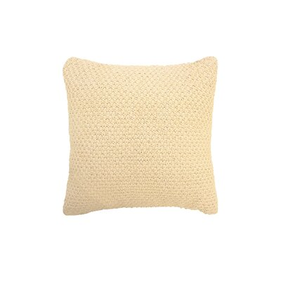 Kelsey Cotton Throw Pillow Color: Ivory