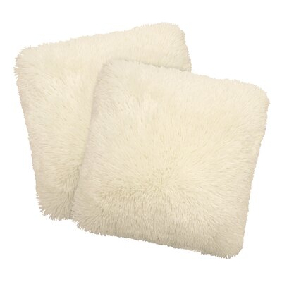 Alexus Throw Pillow Color: Ivory