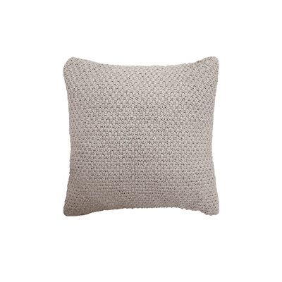 Kelsey Cotton Throw Pillow Color: Light Gray