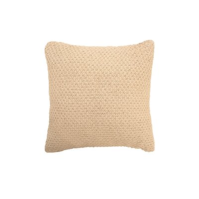 Kelsey Cotton Throw Pillow Color: Linen