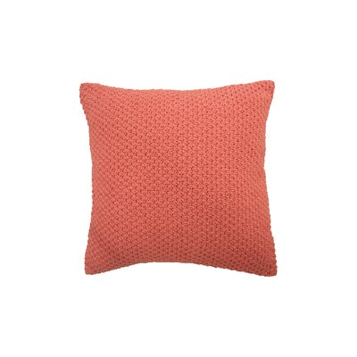 Kelsey Cotton Throw Pillow Color: Coral