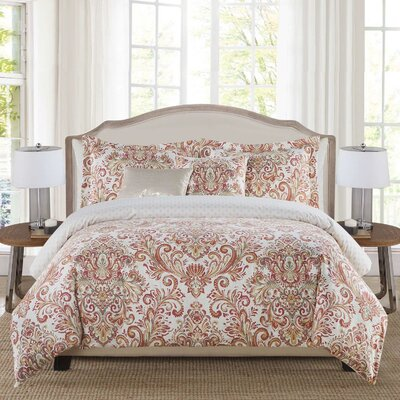 Mika 5 Piece Reversible Comforter Set Size: King