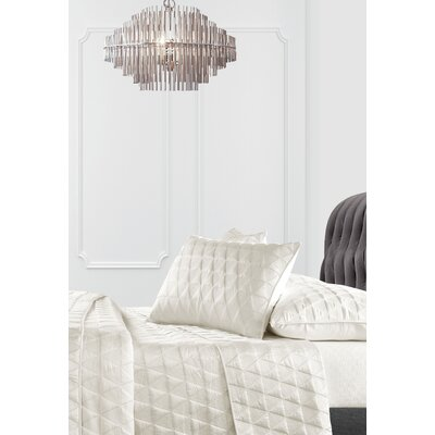 Vowell 3 Piece Coverlet Set Color: Ivory, Size: King