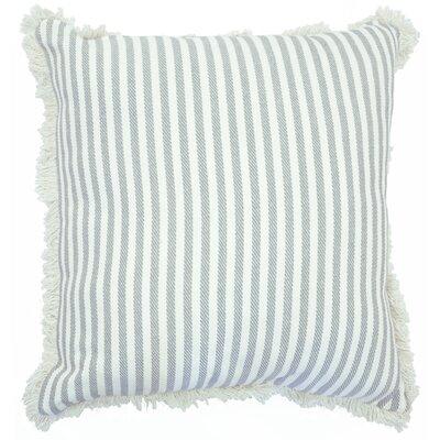 Cartee Striped 100% Cotton Euro Pillow Color: Gray