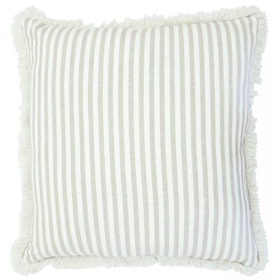 Cartee Striped 100% Cotton Euro Pillow Color: Linen