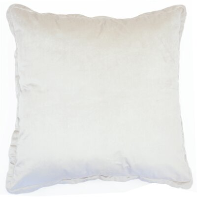 Ashleigh Velvet Euro Pillow Color: Champagne