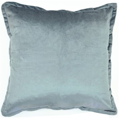 Velvet Euro Pillow Color: Gray