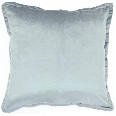 Ashleigh Velvet Euro Pillow Color: Silver