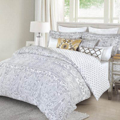 Macedon Damask Vines 5 Piece Reversible Comforter Set Size: King