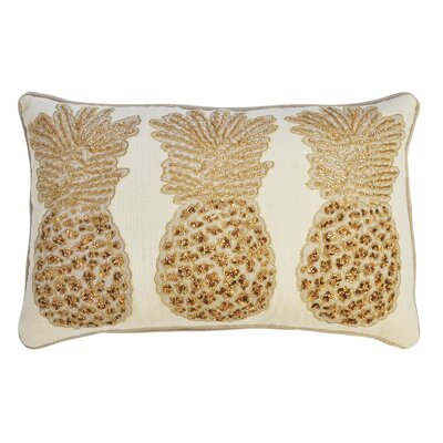 Primrose 3 Pineapples 100% Cotton Lumbar Pillow