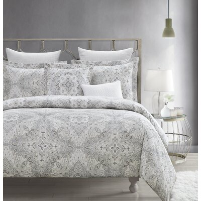 Claribel 5 Piece Comforter Set Size: King