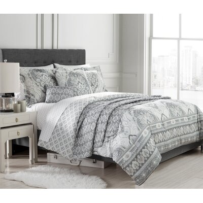 Isadora 10 Piece Reversible Comforter Set Size: Queen