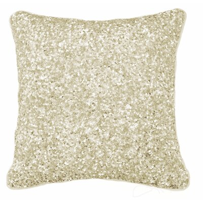 Arabella Sequin Cotton Accent Pillow Color: Gold, Size: 14 x 14